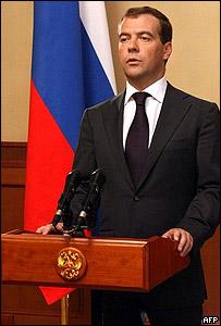 Dmitry Medvedev, presidente de Rusia.