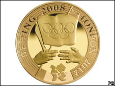 Copyright: Royal Mint/PA Wire, Olympic �2 coin