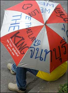 Thai protester (pic courtesy Irmgard Noordhoek)