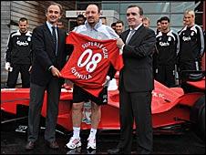 Rafa Benitez helps unveil the LFC Superleague Formula car