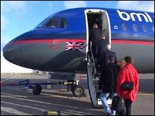 BMI plane at Jersey Airport