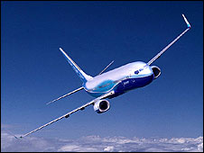 A Boeing 737 (generic image from Boeing website)