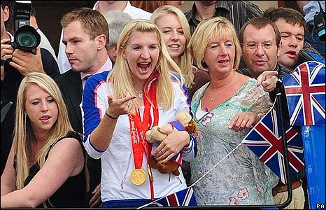Rebecca Adlington with her family