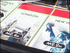 London on monopoly board