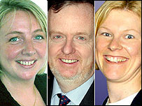 Julie Hedge, Mark Dampier and Morven Whyte are the experts
