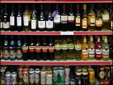 Alcohol at an off-licence