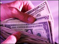 Dollars in wallet, Eyewire