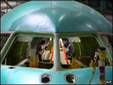 Boeing plane under construction