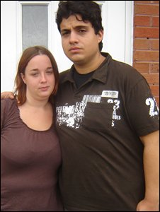 Alistair Preston with his partner Samantha Collins