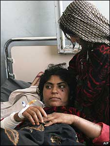 A young woman who was allegedly wounded by a US air strike in Herat province (23 August)