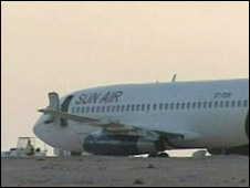 The plane in Kufra