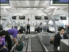 Check-in counters at an airport (generic image)