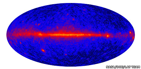 Gamma-ray sky (Nasa/DOE/International LAT Team)