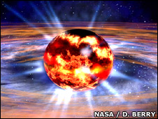 Neutron star (Nasa/D. Berry)