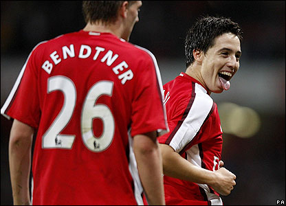 Nasri celebrates his goal