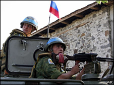 Russian troops in Abkhazia (26 August 2008)