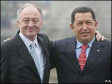 Ken Livingstone and Hugo Chavez