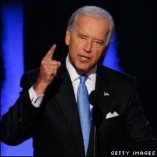 Joe Biden makes his speech on 27 August in Denver