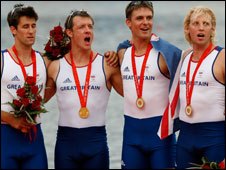 (left to right) Tom James, Steve Williams, Peter Reed and Andy Triggs Hodge