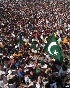 A huge anti-India rally in Srinagar - 22 August