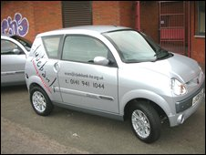 Clydebank Housing Association's electric car