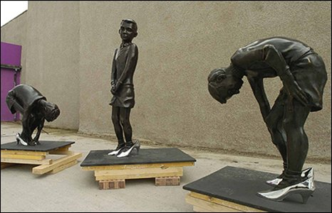 Gorbals Boys sculpture (in storage)