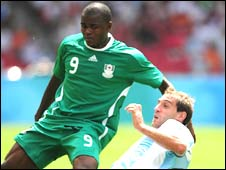 Victor Obinna Nsofor in action at the Olympics