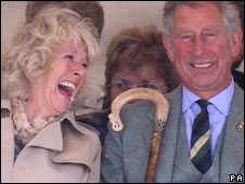 Prince Charles and Camilla at Mey Games