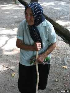 An old woman near the village of Tkvavi (image courtesy of Merlin)