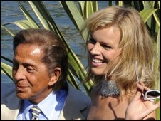 Valentino Garavani with model Eva Herzigova