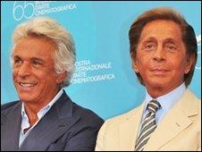 Giancarlo Giammetti (l) and Valentino Garavani