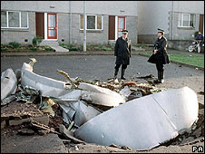 Pan Am Flight 103 wreckage