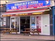 Hastings kebab shop