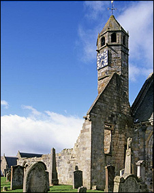 St Bride's Clock (picture from Historic Scotland)