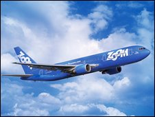Plane of the airline company Zoom