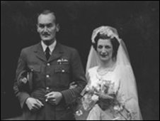 Donald Hill and Pamela Kirrage on their wedding day in 1946