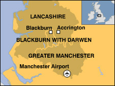 Map of Lancashire and Greater Manchester