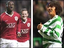 Louis Saha (left) and Shunsuke Nakamura were match-winners the last time the clubs met