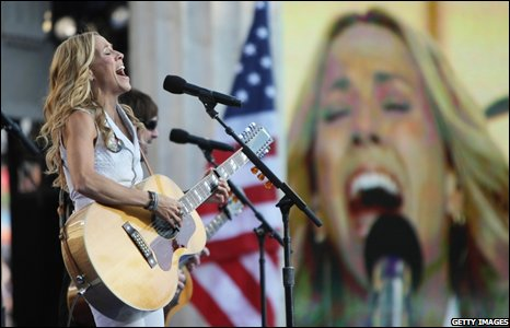Sheryl Crow performs