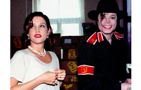 Lisa Marie Presley and Michael Jackson