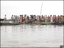 Flood-affected Madhepura district in Bihar