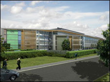 An artist's impression of the new office in Aberystwsyth (picture: Welsh Assembly Government)