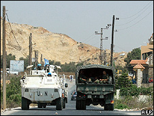 Lebanese army and UN forces deployed in south Lebanon
