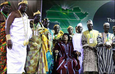 Africa's kings around Col Gaddafi