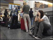 Passengers Glasgow airport