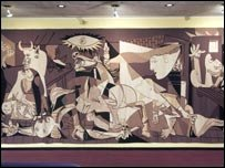 Guernica tapestry at the UN Security Council