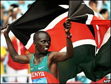 Marathon winner Samuel Wanjiru