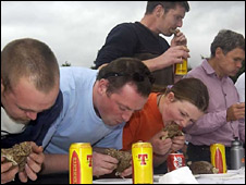 Previous haggis eating championship