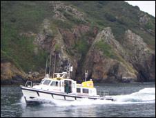Flying Christine III arriving at Sark