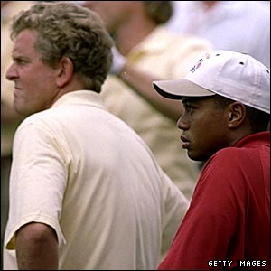 Colin Montgomerie and Tiger Woods